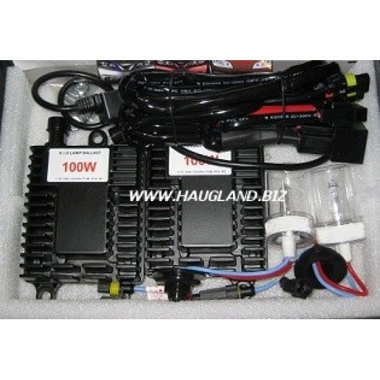 H3 6000K 100W Xenon H.I.D. ombyggingssett - 12V