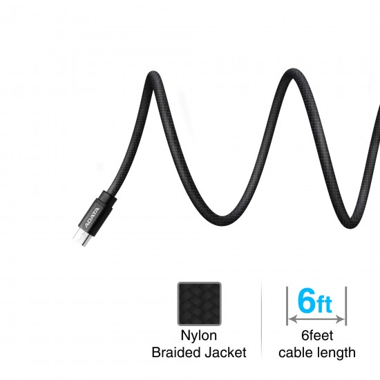 Adata Micro-USB kabel, 2 meter