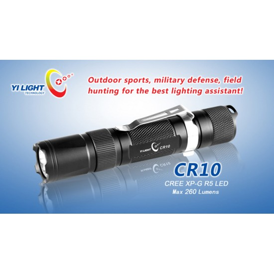 CR10 Led lommelykt - 260 Lumen