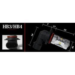 9006 (HB4) pære, High-Power, 30W, 12V-24V