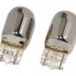 W21W krom blinklyspærer (2 stk.)