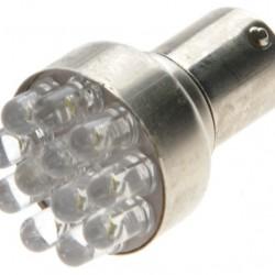 Gul 12 LED 24V (5W) BA15S 1 stk.