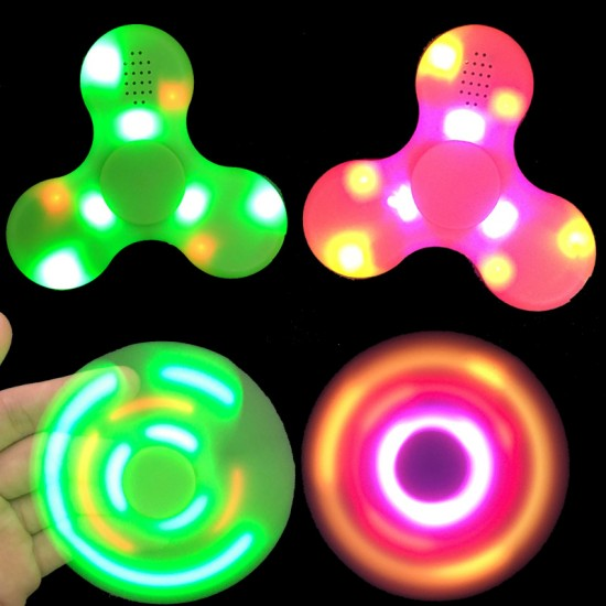 LED Bluetooth Spinner med høyttaler - Rosa