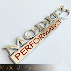 Performance emblem til Tesla Model 3