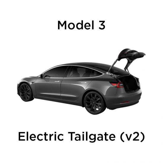 Elektrisk åpning/lukking av trunk inkl. fotsensor - Tesla M3