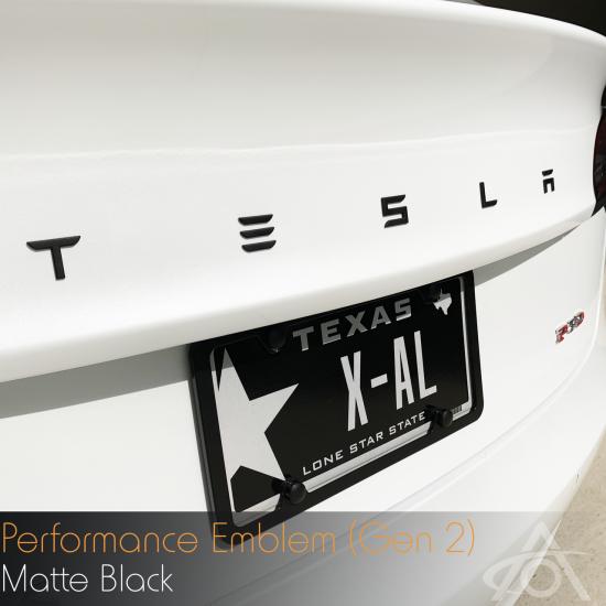 Tesla Performance Emblem - Matt Sort