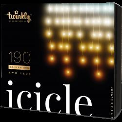 Twinkly Icicle 2 Smart julebelysning 190 LED Gold