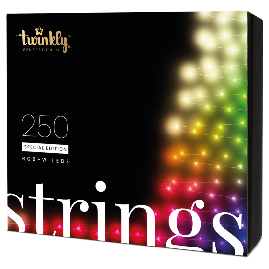 Twinkly Strings 2 Smart julebelysning 250 LED RGB+W